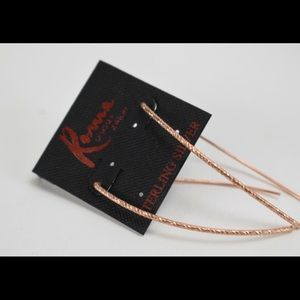 Copper plated Sterling Silver Earrings NWT